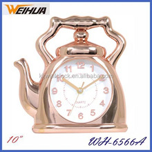 New minimal wall clock different shape, teapot wall clock digital display