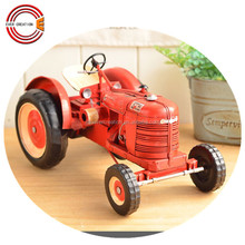 vintage decorative tractor metal car model
