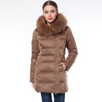 2016 High Quality Hot Sale Top Quality New Design Brown Fur Jacket