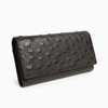Luxury Genuine Ostrich Leather Long Wallet