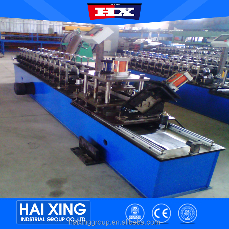 Full automatic quick change channel roll forming machine with plc touch screen