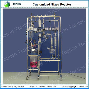 Customized Jacket Glass Reactor Jacketed Glass Reactor Glass Chemical Reactor with PTFE seal