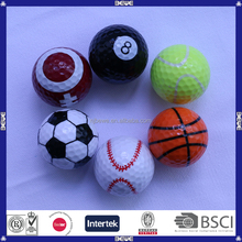 Novelty Giveaway Sports Pattern Golf Ball For Promotion