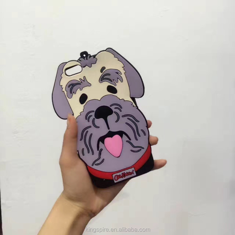 3D Animal Shape Poodle Silicone Dog Phone Case Cover For iPhone 7 7 Plus