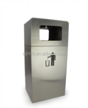 Wall mounted stainless steel ashtray bin