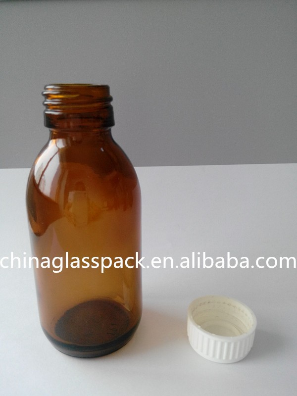 High Quality Medicine Glass Bottle Use for Drug Clear and Brown Color
