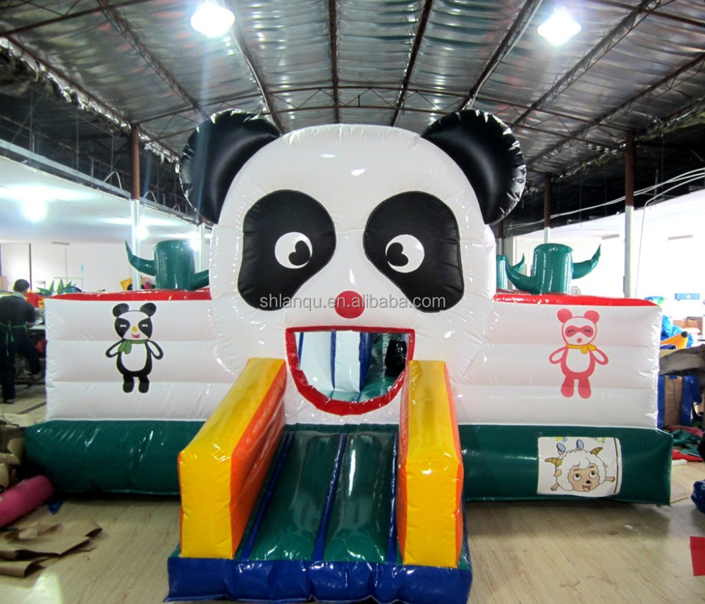 China Panda inflatables bouncies inflate jumper