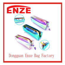 Big Hologram Stationery Cute Zipper Pen pvc pencil case Makeup Cosmetic School Bag