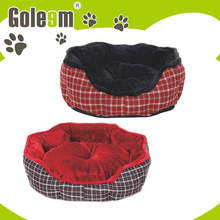 lightweight round plush pet bed for dogs
