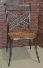rustic furniture iron legs wooden antique chairs