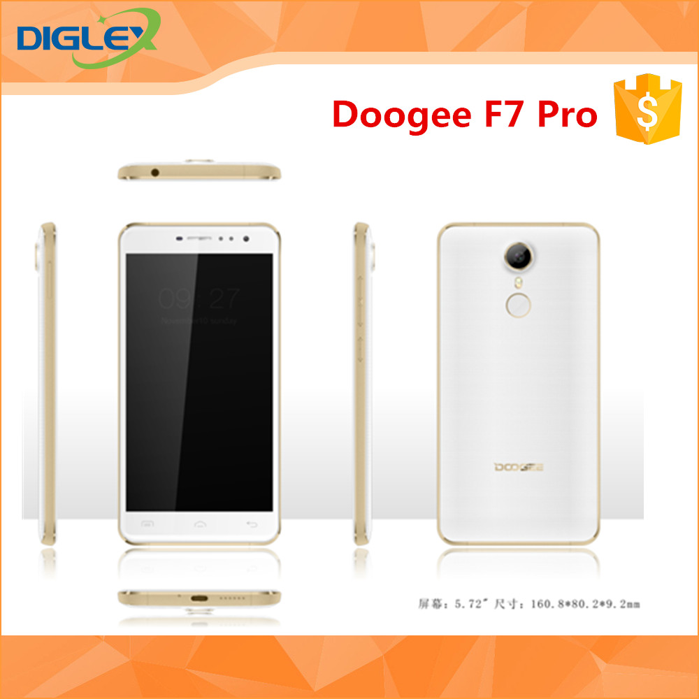 Wholesale price Doogee F7 PRO Deca Core 4GB RAM 32GB ROM 5.7 inch FHD 1920*1080 Android 6.0 Camera 21MP Fingerprint Cell Phone