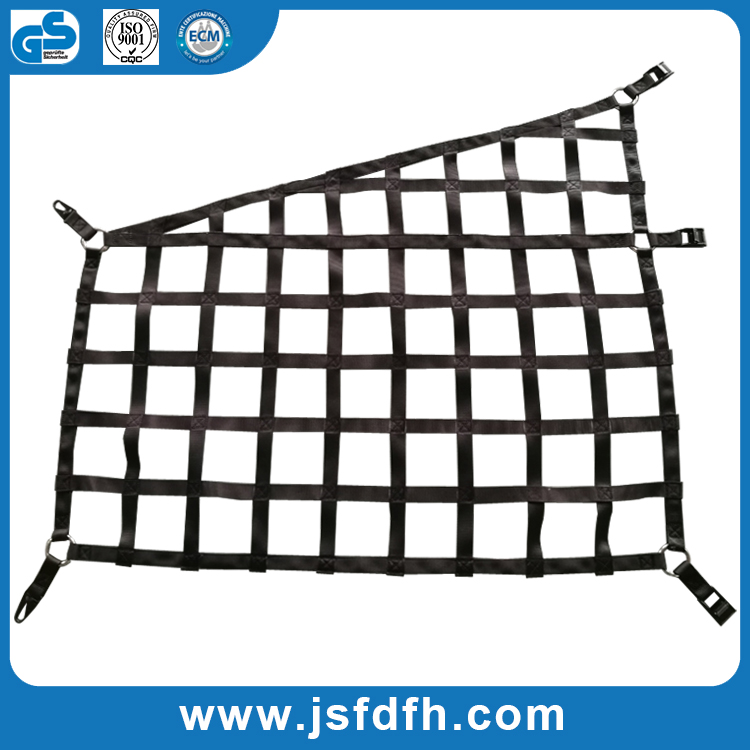 Customized polyester webbing cargo safety net