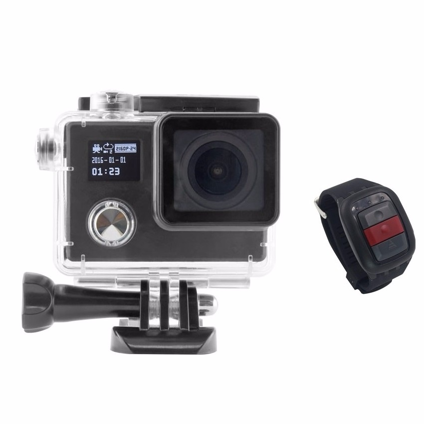 New Arrival Novatek 96658 Full HD Dual Screens Remote control wifi gopros heros 4 action camera