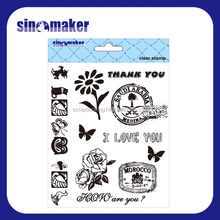 high quality clear stamp set PET rubber clear stamps scrapbooking