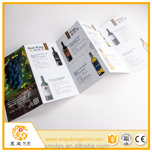 Cheap folding commercial paper leaflet printing manufacturer