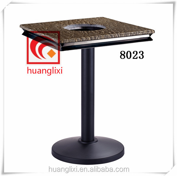 Composite table frame, composite glue bottom seat, black table feet