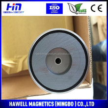 Hard Ferrite Special Flat Pot Magnet for Magnetic assemblies