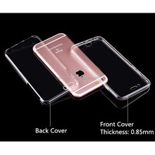360 degree soft tpu full protective phone case clear transparent cover for samsung galaxy note3