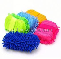 Car wax sponge wash gloss microfibre chenille cleaning applicator pads for cleaning car glass