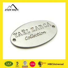 High Quality Customized Oval 2 Hole Metal Tag