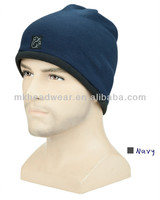 Wholesale Men's High Quality Winter Polar Fleece Hat Pattern Fleece Hat Making