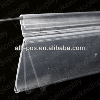plastic price label holder strip for supermarket