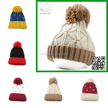New fashion Crochet knit winter hat with ball,hand made beanie hat,funny winter ski hat for man