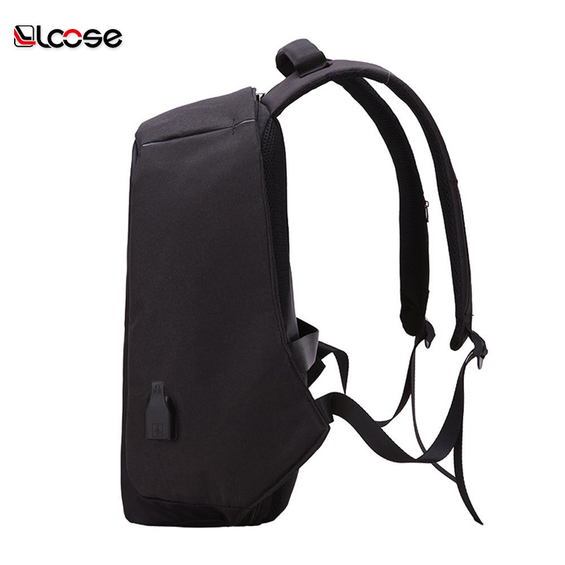 Fashion Wholesale Outer USB Battery Charging Travel Laptop Anti Theft Backpack