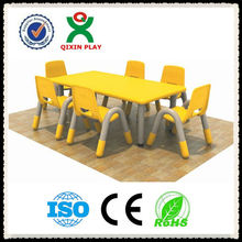 2013 High quality square plastic table and chair for kids/desk/prescholl furniture/kindergarten furniture QX-B7001