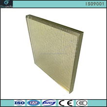 6mm ultra grey glass white EVA laminated glass with silver powder silkscreen printed price