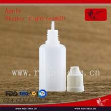 wholesale 30ml pe bottle with flat top for essential oil/e liquid