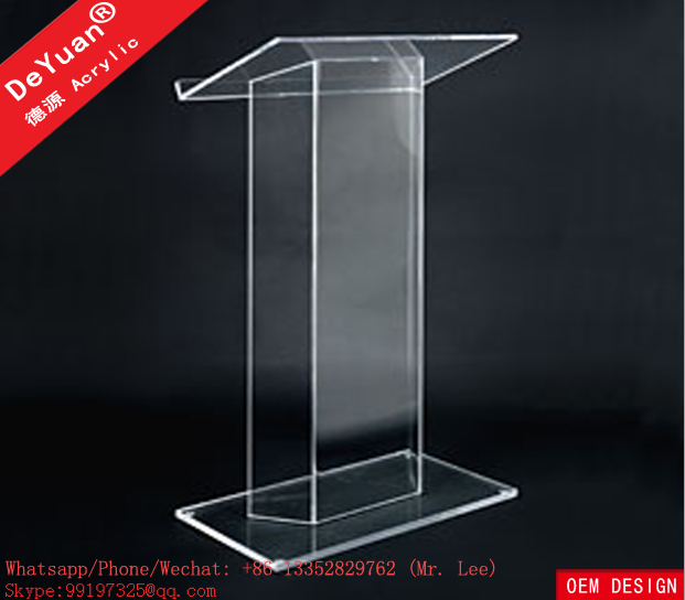 Custom pmma acrylic podium pulpit lectern wholesale