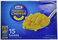 Kraft Blue Box Macaroni & Cheese (15pk 7.25oz)