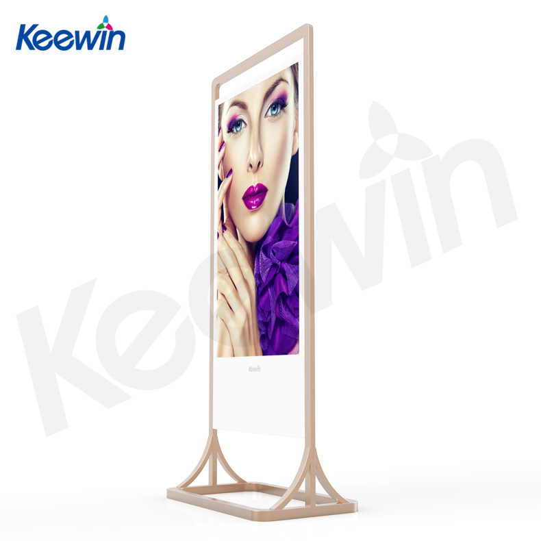 ultrathin double sides 55inch indoor advertising lcd kiosk for shopping mall with wifi Android system