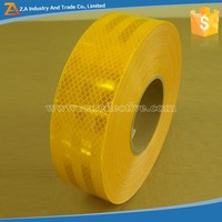 New product for 2016 High Intensity Prismatic Grade Single Side Self- Adhesive Vehicle Sticker PET 3M Reflective Yellow Tape