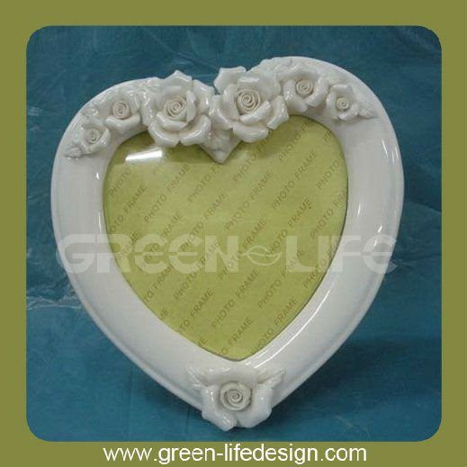 Ceramic flower photo picture frame
