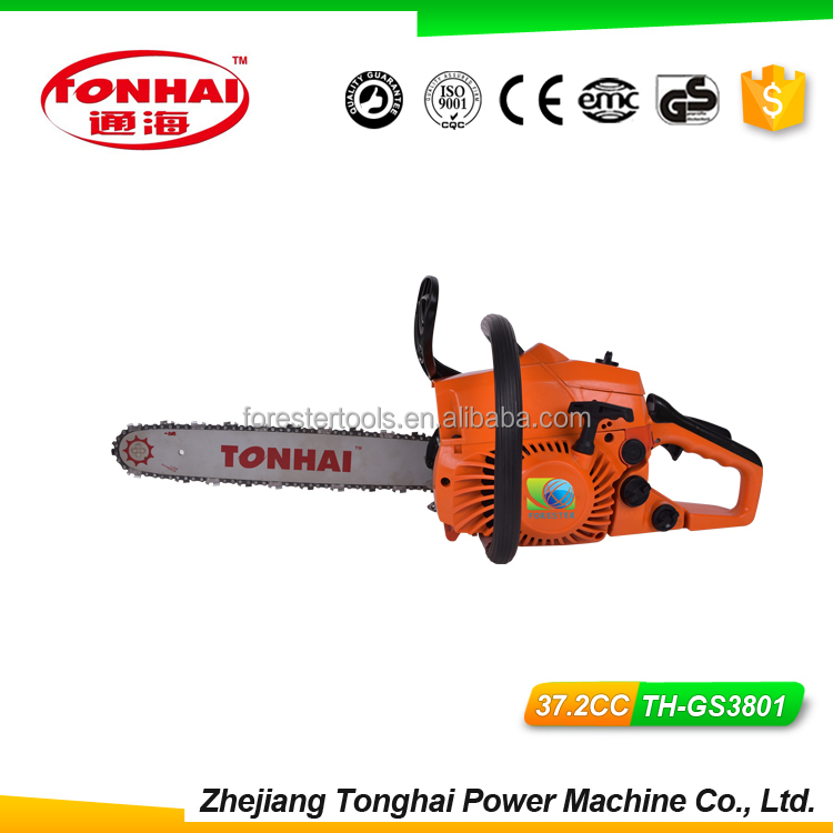 37.2cc Gasoline Chainsaw TH-GS3801 cheap chainsaw with CE poulan electric chainsaw