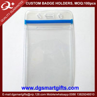 PVC Ziplock Staff Card Id Holder
