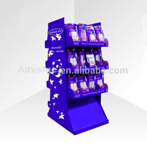 baby feeder nipple teat 3 tier floor baby product cardboard display/customized cardboard display for baby daily necessity