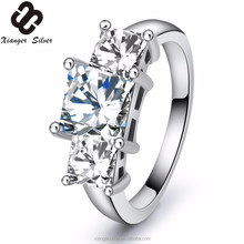 Latest sample design italian 925 silver jewelry pave diamonds rings