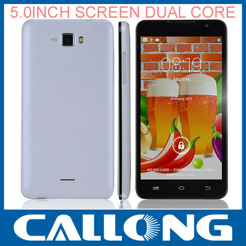dual sim mtk 6572 dual core unlocked android smart cheap mobile phone 512RAM 4GB ROM 5.0 Inch 5.0MP CALLONG jiake F1W