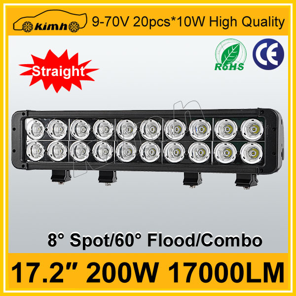 "17.2"" 17000LM 200W led light bar for suv 4x4 off road"