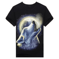 wholesale fashion design men's black printing 3d t shirt
