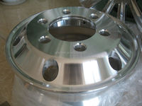 Polished machined aluminum alloy truck wheel 17.5x6.0 wheel cover 15 inch