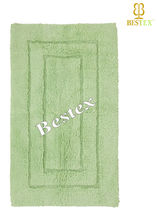 Unique High quality Green Large Cotton Custom size Bath rug