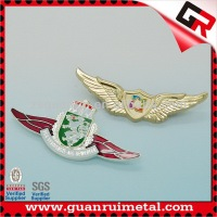 Fashion Best-Selling metal wing badge pin