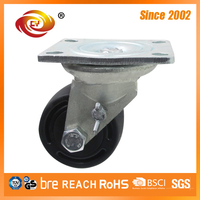 3 Inch Zinc Plated Black Polyamide Caster Wheel 3810-25