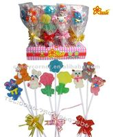 different kind & cute of cartoon Fruit flavor Jelly Pop Candy