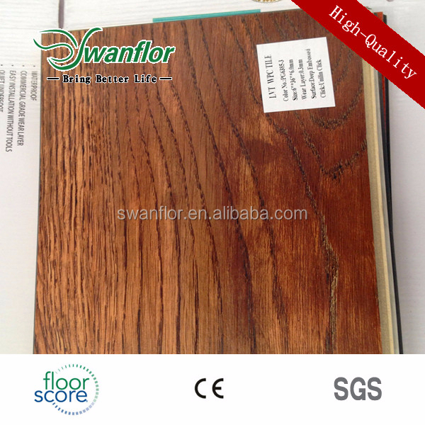 5.0MM Waterproof Wood Texture PVC Laminate Flooring With Fiberglass