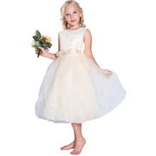 Party Wear Western Dress Baby Girl Party princess Children full-length ball gown flower girl dress plus size